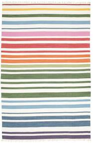 Rainbow Stripe - 흰색 러그 200X300 정품  모던 수제 화이트/크림 (면화, 인도)