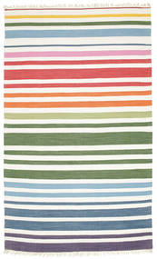 Rainbow Stripe - 흰색 러그 180X280 정품  모던 수제 베이지/화이트/크림 (면화, 인도)