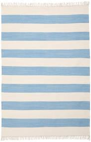면화 Stripe - 연한 파란색 러그 160X230 정품  모던 수제 라이트 블루/베이지 (면화, 인도)