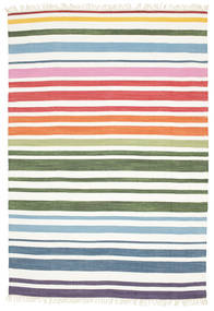 Rainbow Stripe - 흰색 러그 160X230 정품  모던 수제 화이트/크림 (면화, 인도)