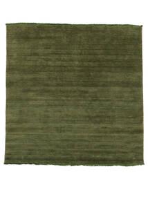 베틀 Fringes - 녹색 러그 200X250 모던 올리브 그린/다크 그린 (울, 인도)
