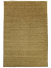 베틀 Fringes - 올리브 녹색 러그 140X200 모던 올리브 그린/브라운 (울, 인도)