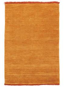 베틀 Fringes - Orange 러그 80X120 모던 옐로우/라이트 브라운 (울, 인도)