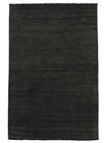 베틀 Fringes - 검정색/회색 러그 250X350 모던 다크 그레이 대형 (울, 인도)