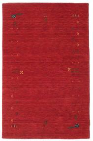 가베 Loom Frame - 먼지 빨간색 러그 100X160 모던 크림슨 레드 (울, 인도)