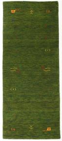 가베 Loom Frame - 녹색 러그 80X200 모던 복도용 러너  다크 그린 (울, 인도)