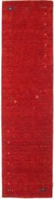가베 Loom Frame - 빨간색 러그 80X300 모던 복도용 러너  크림슨 레드 (울, 인도)