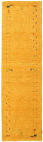 가베 Loom Frame - 노란색 러그 80X300 모던 복도용 러너  옐로우/오렌지 (울, 인도)