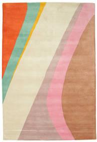 Dynamic Handtufted - 핑크색 러그 200X300 모던 베이지/러스트 레드 (울, 인도)