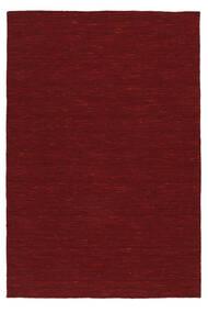 킬림 Loom - 다크 레드 러그 120X180 정품  모던 수제 크림슨 레드 (울, 인도)