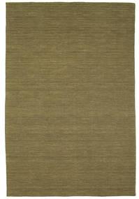 킬림 Loom - 올리브 러그 200X300 정품  모던 수제 올리브 그린 (울, 인도)