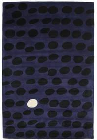 Camouflage Handtufted - 진한 러그 200X300 모던 블랙/다크 블루 (울, 인도)