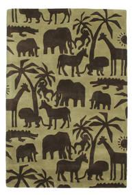 Africa Handtufted 러그 120X180 모던 다크 브라운/올리브 그린/라이트 그린 (울, 인도)