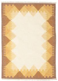 킬림 Dorris - 갈색 러그 140X200 정품  모던 수제 베이지/라이트 브라운 (울, 인도)