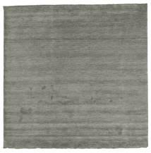 베틀 Fringes - 진한 회색 러그 250X250 모던 사각형 다크 그레이 대형 (울, 인도)
