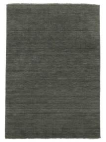 베틀 Fringes - 진한 회색 러그 200X300 모던 다크 그레이 (울, 인도)