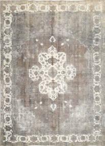 단색 빈티지 러그 285X393 정품  모던 수제 라이트 그레이/다크 베이지 대형 (울, 페르시아/이란)