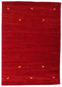 가베 Loom Two Lines - 빨간색 러그 160X230 모던 크림슨 레드/다크 레드 (울, 인도)