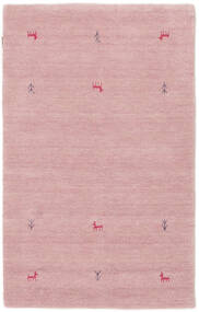 가베 Loom Two Lines - 핑크색 러그 100X160 모던 라이트 핑크 (울, 인도)