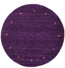 가베 Loom Two Lines - Purple 러그 Ø 150 모던 원형 다크 퍼플 (울, 인도)