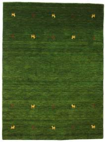 가베 Loom Two Lines - 녹색 러그 140X200 모던 다크 그린 (울, 인도)