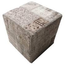 패치워크 의자 러그 50X50 정품 오리엔탈 수제 사각형 라이트 그레이/다크 그레이 (울, 터키)