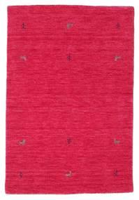 가베 Loom Two Lines - Cerise 러그 100X160 모던 크림슨 레드/핑크 (울, 인도)