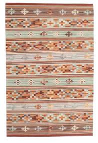 킬림 Anatolian 러그 100X160 정품 모던 수제 다크 레드/라이트 그레이 (울, 인도)