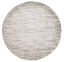 대나무 실크 Loom - Warm 회색 러그 Ø 150 모던 원형 라이트 그레이 ( 인도)