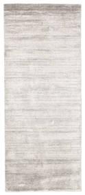 대나무 실크 Loom - Warm 회색 러그 80X200 모던 복도용 러너 라이트 그레이/화이트/크림 ( 인도)