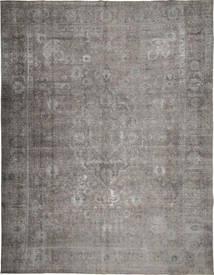 단색 빈티지 러그 290X379 정품  모던 수제 라이트 그레이/다크 그레이 대형 (울, 페르시아/이란)