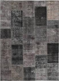패치워크 러그 165X237 정품  모던 수제 다크 그레이/브라운 (울, 페르시아/이란)