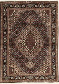 타브리즈 40 Raj 러그 107X149 정품 오리엔탈 수제 다크 레드/다크 브라운 (울/실크, 페르시아/이란)