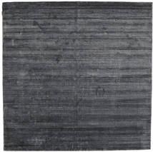 대나무 실크 Loom - 차콜 러그 250X250 모던 사각형 퍼플/다크 그레이/블랙 대형 ( 인도)