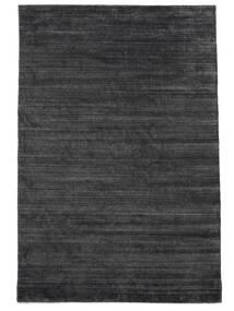 대나무 실크 Loom - 차콜 러그 250X350 모던 블랙/퍼플/다크 그레이 대형 ( 인도)