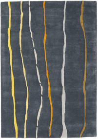 Flaws Handtufted - 회색 러그 140X200 모던 다크 그레이/다크 블루 (울, 인도)