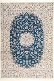 나인 6La Habibian 러그 204X304 정품 오리엔탈 수제 라이트 그레이/화이트/크림 (울/실크, 페르시아/이란)