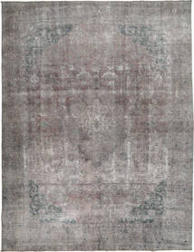 단색 빈티지 러그 292X375 정품  모던 수제 라이트 그레이/다크 그레이 대형 (울, 파키스탄)