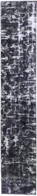 단색 빈티지 러그 70X380 정품 모던 수제 복도용 러너 다크 그레이/라이트 그레이 (울, 페르시아/이란)