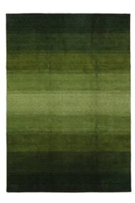 가베 Rainbow - 녹색 러그 240X340 모던 다크 그린/올리브 그린 (울, 인도)