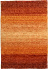 가베 Rainbow - 먼지 러그 160X230 모던 오렌지/러스트 레드 (울, 인도)