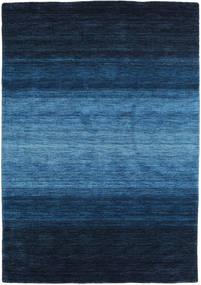 가베 Rainbow - 파란색 러그 140X200 모던 다크 블루/블루 (울, 인도)