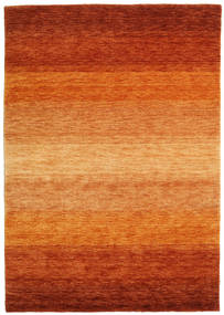 가베 Rainbow - 먼지 러그 140X200 모던 오렌지/러스트 레드/라이트 브라운 (울, 인도)