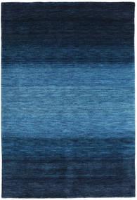 가베 Rainbow - 파란색 러그 160X230 모던 다크 블루/블루 (울, 인도)