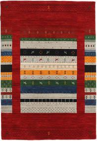 로리바프 Loom Designer 러그 120X180 모던 다크 레드/라이트 그레이 (울, 인도)