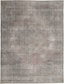단색 빈티지 러그 284X375 정품  모던 수제 라이트 그레이/다크 그레이 대형 (울, 파키스탄)