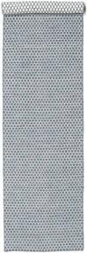 킬림 Honey Comb - 파란색 러그 80X340 정품  모던 수제 복도용 러너  라이트 그레이/라이트 블루 (울, 인도)