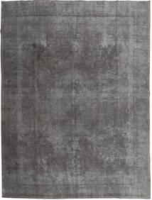 단색 빈티지 러그 290X373 정품  모던 수제 다크 그레이/라이트 그레이 대형 (울, 파키스탄)