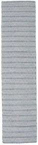 킬림 Long Stitch - 파란색 러그 80X340 정품  모던 수제 복도용 러너  라이트 그레이/라이트 블루 (울, 인도)