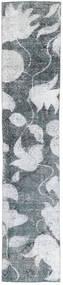 단색 빈티지 러그 68X363 정품 모던 수제 복도용 러너 블루/화이트/크림 (울, 페르시아/이란)